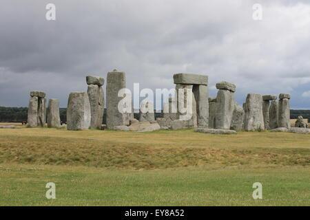 Stonehenge, Wiltshire, England, UK - Stock Photo