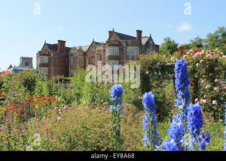 Burton Agnes Hall viewed from the walled garden, Burton Agnes, near Driffield, East Riding of Yorkshire, England, UK