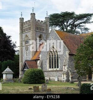 St Marys church, Hambleden, Buckinghamshire, England - Stock Photo