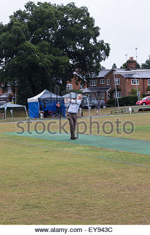 Hartley Wintney, Hampshire, UK. 24th July, 2015. UK Weather: After waiting all day for the rain to cease the planned - Stock Photo