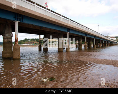 Teignmouth to Shaldon Bridge, Devon, UK - Stock Photo