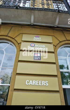 Army Air Force careers office Oxford England UK - Stock Photo