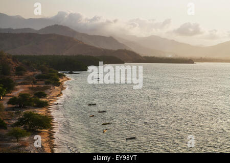 Beach by the Wetar Strait, near Metinaro; Dili District, East Timor - Stock Photo