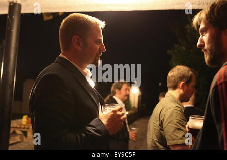 Party at the LSA (Liberland Settlement Association) house with Liberland president Vit Jedlicka. - Stock Photo