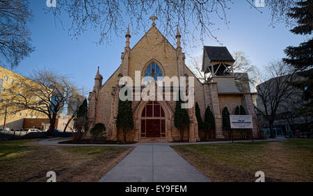 Holy Trinity Anglican Church is a long cruciform-shaped stone structure built in 1883-84 - Stock Photo