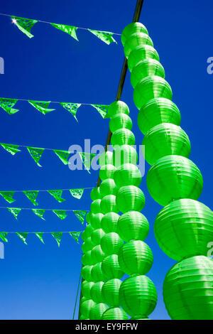 International Folk Art Market held annually in Santa Fe, New Mexico, USA  July 11, 2015 colorful lanterns - Stock Photo