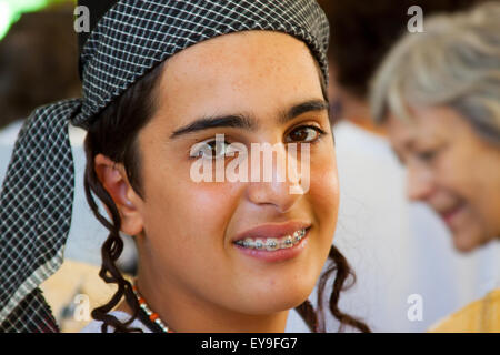International Folk Art Market held annually in Santa Fe, New Mexico, USA  July 11, 2015 youngster, teenager, teen - Stock Photo