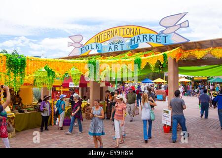 International Folk Art Market held annually in Santa Fe, New Mexico, USA  July 11, 2015 - Stock Photo