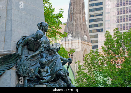 Part Of A Monument To Edward Vii In Phillips Square; Montreal, Quebec, Canada - Stock Photo