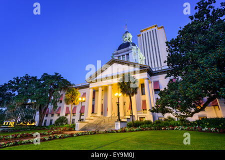 Tallahassee, Florida, USA at the Old and New Capitol Building. - Stock Photo