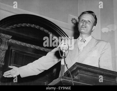 Billy Graham, world-renowned Christian evangelist, in early 1950. - Stock Photo