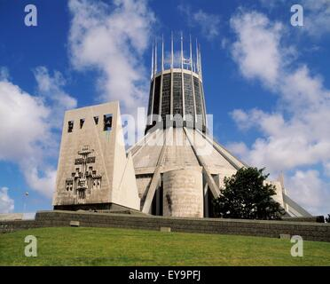 Liverpool Metropolitan Cathedral Of Christ The King, Liverpool, England - Stock Photo