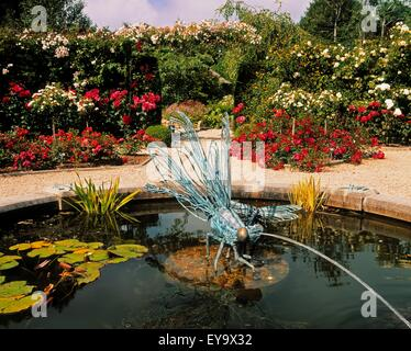 national garden exhibition centre kilquade co wicklow ireland pool and dragonfly sculpture - Garden Furniture Kilquade