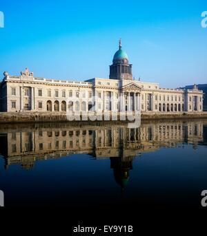 Custom House, Dublin, Co Dublin, Ireland; River Gods Of Ireland On 18Th Century Building Designed By James Gandon - Stock Photo