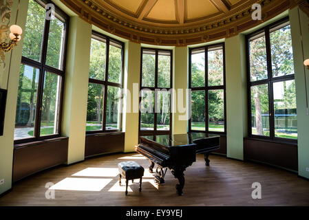 A grand piano is displayed Friday at Wahnfried Villa, the composer Richard Wagner's home in the southern German - Stock Photo