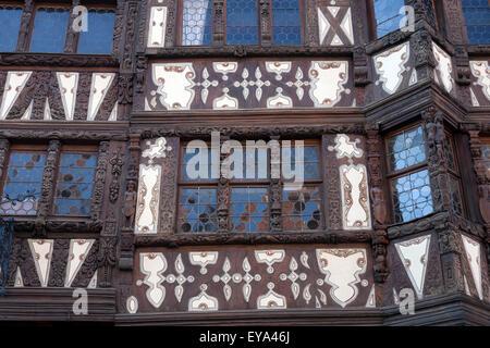 Saverne, France, facade of the Maison Katz - Stock Photo