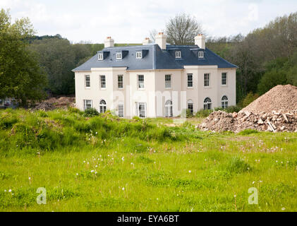 Newly constructed rural mansion house, Axford, Wiltshire, England, UK - Stock Photo