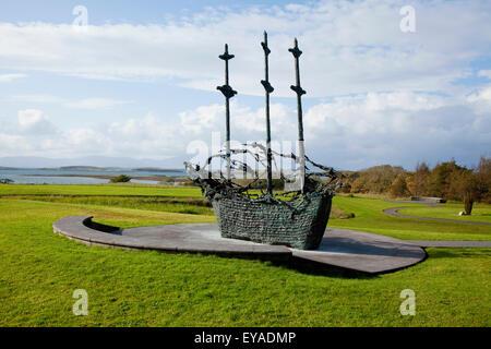 The National Famine Monument Near Westport; County Mayo, Ireland - Stock Photo
