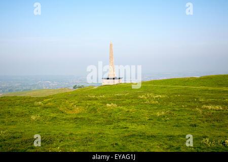 Lansdowne Monument or Cherhill Monument, near Cherhill in Wiltshire, England, UK - Stock Photo