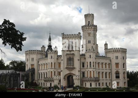 Hluboka Castle in Hluboka nad Vltavou, South Bohemia, Czech Republic. - Stock Photo