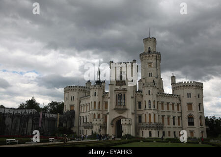 Hluboka Castle in Hluboka nad Vltavou, South Bohemia, Czech Republic. - Stock Photo