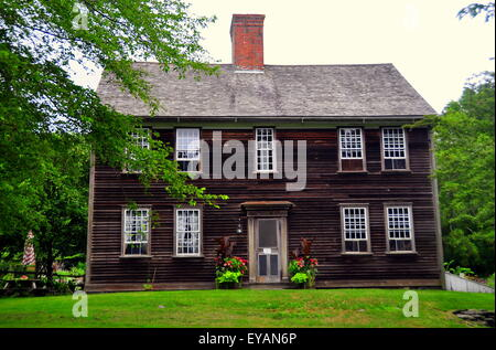 Jamestown, Rhode Island: The 1796 wood frame colonial farmhouse at ...