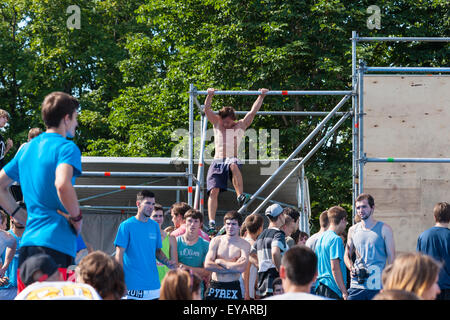 Moscow, Russia. 25th July, 2015. Moscow City Games 2015 sports festival took place at the Olympic Sport Complex - Stock Photo