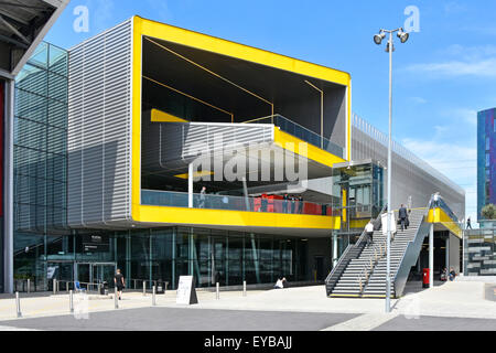 Exhibition Hall eastern public entrance areas to the London Excel exhibition complex & International Convention - Stock Photo