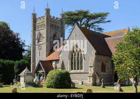 St Mary the Virgin Church, Hambleden, Buckinghamshire, England, UK. - Stock Photo
