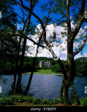Castlewellan Lake And Forest Park, Castlewellan, Co Down, Ireland; Castlewellan Castle In The Distance From The - Stock Photo