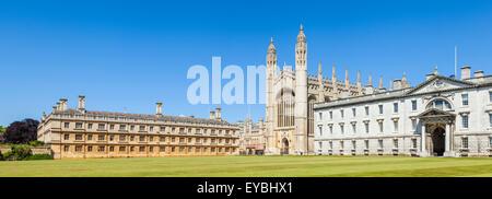 Clare college Kings College chapel and Gibbs building Cambridge University Cambridgeshire England UK GB EU Europe - Stock Photo