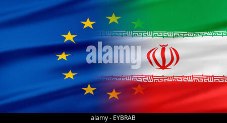 European Union and Iran. - Stock Photo
