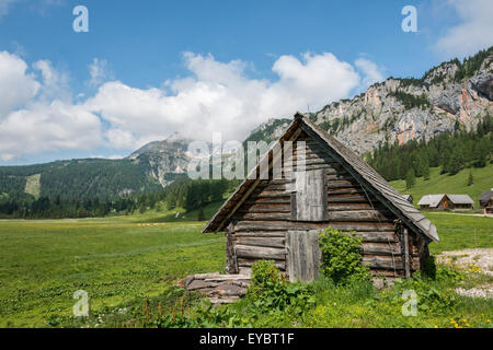 Alpine cabin, Wurzeralm, Austria - Stock Photo