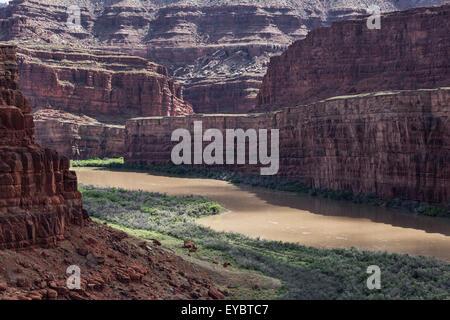 Colorado River near Canyonlands, Moab, Utah - Stock Photo
