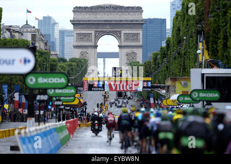 Tour de France Final Stage 21 Seves to Paris. 26th July, 2015. 26.07.2015. Sevres to Paris. illustration during - Stock Photo