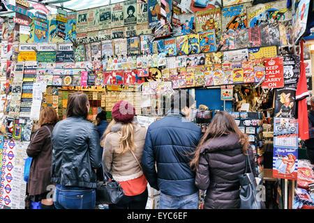 Portobello Road Market. London, England, United Kingdom, Europe. - Stock Photo