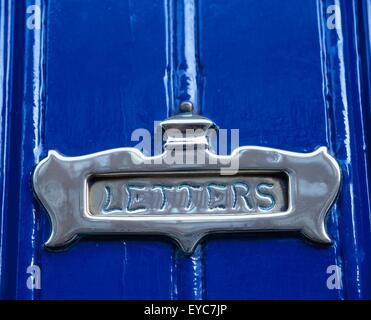 Dublin, Ireland, Close-Up Detail Of Georgian Style Letterbox - Stock Photo