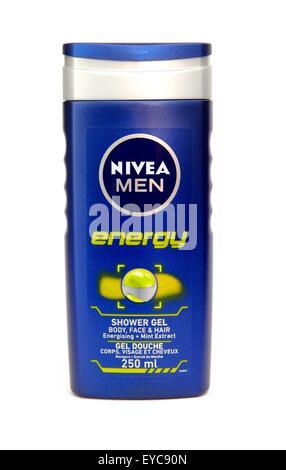 Nivea men energy shower gel - Stock Photo