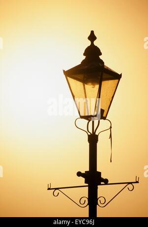 Athlone, County Westmeath, Ireland; Close-Up Of Ornate, Old-Fashioned Street Lamp - Stock Photo