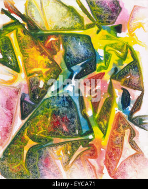 picture painted by me named Illustris. It shows abstract multicolored wrinkled ambiance - Stock Photo