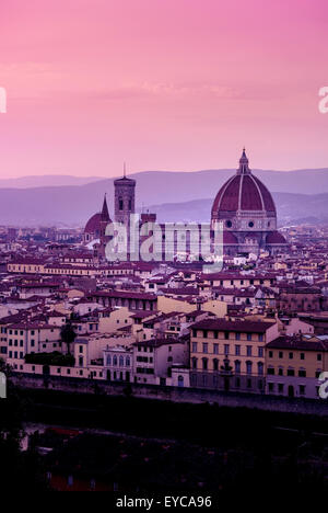 Florence Cathedral at dusk. Florence, Italy. - Stock Photo