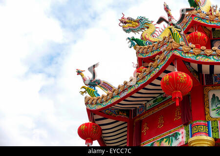 Chinese Dragon that we can see at the shrine in Asia. - Stock Photo