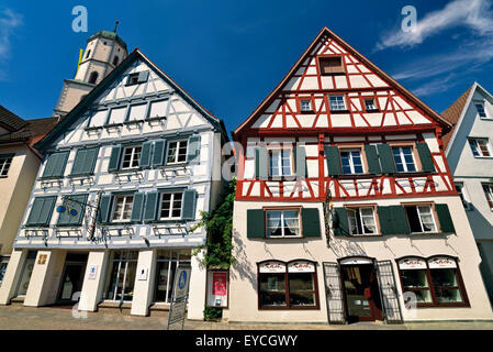Germany, Baden-Württemberg: Typical half timbered houses in Biberach an der Riß - Stock Photo