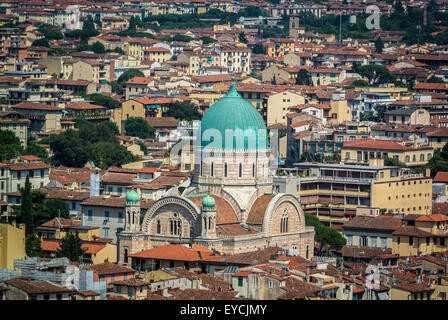 Great Synagogue of Florence. - Stock Photo