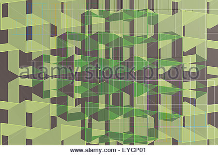 Abstract full frame three dimensional geometric backgrounds pattern - Stock Photo