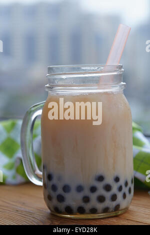 Bubble boba tea - Stock Photo