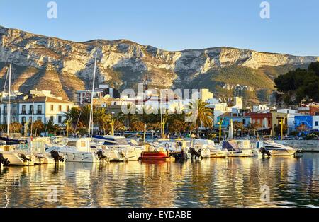 Boats at the harbour. Denia. Alicante. Valencia Community. Spain - Stock Photo