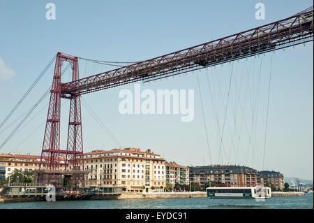 Puente De Vizcaya, First Shuttle Bridge, Between Portugalete And Getxo, Basque Country, Spain - Stock Photo