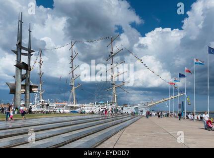Polish Sail training ship Dar Mlodziezy (the Gift of Youth) - Stock Photo