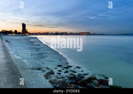 Marina in Gdynia city on the Baltic seaside - Stock Photo